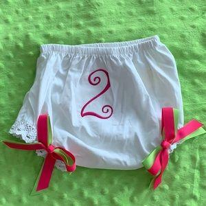 Super Cute '2' Diaper Cover NWOT